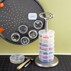 Organize Craft Room Supplies with Magnets