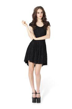 Evil Cheerleader Lace Dress $130 black milk clothing