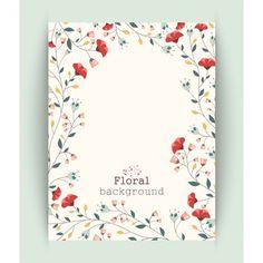 Diseño de fondo de flores Vector Premium