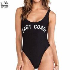 $8.87 (Buy here: https://alitems.com/g/1e8d114494ebda23ff8b16525dc3e8/?i=5&ulp=https%3A%2F%2Fwww.aliexpress.com%2Fitem%2F2016-Sexy-Black-East-Coast-One-Piece-Swimsuit-Women-s-Swimwear-High-Cut-Letter-Bodysuit-Summer%2F32703482070.html ) 2016 Sexy Black East Coast Swimsuit Women's Swimwear High Cut Letter Bodysuit Summer Bathing Suits  Jumpsuits BK1055 for just $8.87