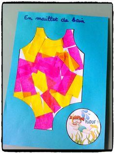 décorer son maillot de bain, bricolage enfant, été, vacances, plage