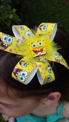 Hey, I found this really awesome Etsy listing at https://www.etsy.com/listing/227486228/spongebob-squarepants-glitter-headband