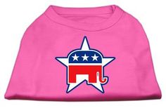 Mirage Pet Gift Puppy Dog Cat Summer Clothes Winter Dress Apparel Republican Screen Print Shirts Bright Pink L (14)