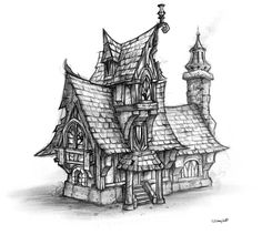 World of Warcraft: Cataclysm Art & Pictures. House Sketch.    House Sketch