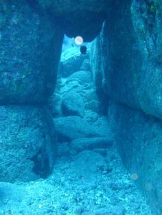 Yonaguni, Japan - off the coast of Okinawa. Discovered in 1995.cool u can see orbs in the water, ancient spirits?