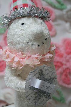 cute paper mache snowman