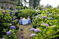 Tea Party at Thornewood Castle's English garden, designed by the Olmstead brothers well I've been to Central Park ...