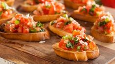 Buy Homemade Italian Bruschetta Appetizer by on PhotoDune. Homemade Italian Bruschetta Appetizer with Basil and Tomatoes One Bite Appetizers, Finger Food Appetizers, Finger Foods, Appetizer Recipes, Snack Recipes, Snacks, Holiday Appetizers, Health Appetizers, Appetizer Ideas