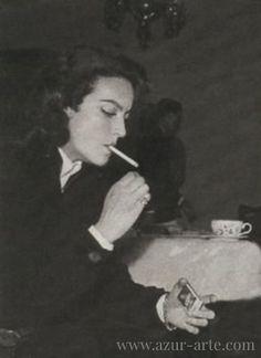 Maria Felix, vintage portrait, retoque fotografico por AZUR.
