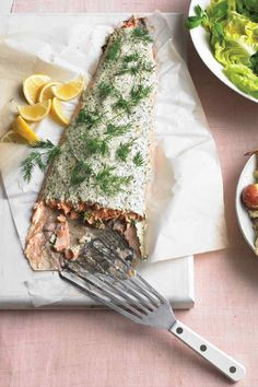 Roasted Salmon With Herbed Yoghurt | Martha Stewart