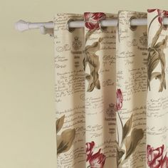 IYUEGO Flower Letter Print Grommet Top Lining Blackout Curtains Draperies With Multi Size Custom 50 W x 63 L One Panel -- For more information, visit image link. (This is an affiliate link) Wide Curtains, Curtains And Draperies, Floral Curtains, Blackout Curtains, Panel Curtains, Drapery, Flower Letters, Country Curtains, Curtain Patterns