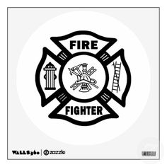 Fire Fighter Maltese Cross Wall Graphic