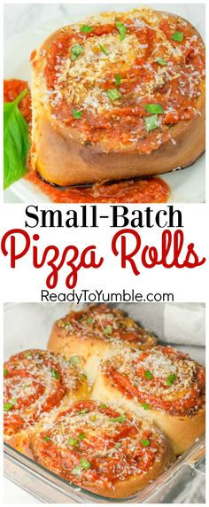 """Small Batch Pizza Rolls from the new """"Baking for Two"""" cookbook are the easiest way to satisfy your pizza craving without going TOO far overboard! (Baking Dinner For Two) Cooking For One, Batch Cooking, Cooking Tips, Cooking Pasta, Easy Cooking, Small Batch Baking, Pizza Recipes, Skillet Recipes, Dinner Recipes"""