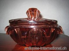 Roma Bowl and cover Czech Glass, Decorative Items, Jar, Tableware, Cover, Design, Home Decor, Dinnerware, Decoration Home