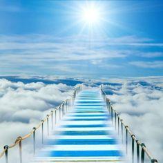 Stairway to heaven Stairway To Heaven, Jesus Is Coming, Prophetic Art, New Journey, Rainbow Bridge, Pathways, Stairways, Background Images, Earth