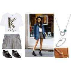 fashion-streetstyle: (via Houndstooth Shorts Looks Style, Style Me, Uk Street Style, Street Chic, Street View, Style Tumblr, Blazer And Shorts, Tweed Shorts, Denim Blazer