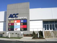 Sports fans will love the ACC Hall of Champions. #sports #ACC