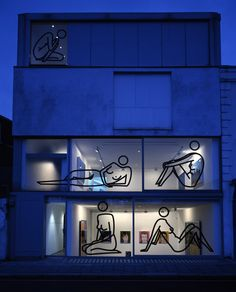Julian Opie | Exhibitions | Lisson Gallery G Gallery, Lisson Gallery, Funny Art, International Artist, Environmental Design, Land Art, Installation Art, Art Installations, Cafe Idea
