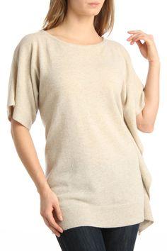 Lauren Hansen Asymmetric Body Cashmere Sweater In Hudson Beige - Beyond the Rack