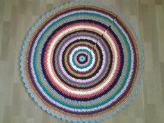 Crochet doily round rug, 46, 5''(118 cm)/Crochet Rug/Rugs/Rug/Area Rugs/Floor Rugs/Large Rugs/Handmade Rug/Carpet/Cotton Rug by AnuszkaDesign on Etsy