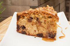 Pound cake.Ciasto funtowe z masłem orzechowym i czekoladą