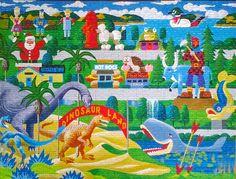 Roadside Icons 1000 Piece Puzzle