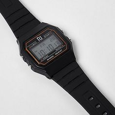 Black digital watch - watches - men