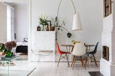 neutral room with pops of colour by henrik nero