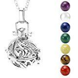 Review for Top Plaza 7 Chakra Stones Reiki Healing Energy 16mm Ball Beads Locket Pendant Ch... - Sharon Farris  - Blog Booster