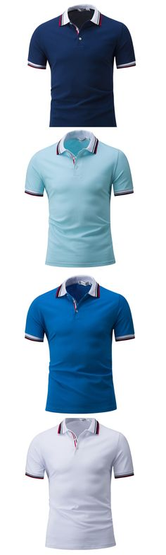 f574db57f098 Men s Casual Daily Sports Simple Active Summer Polo Ρούχα Εργασίας