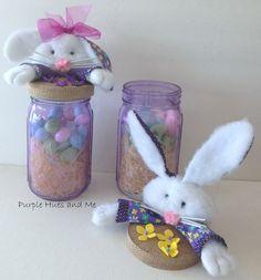 easter mason jar toppers diy, crafts, easter decorations, how to, mason jars, repurposing upcycling, seasonal holiday decor