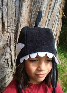 Animal Hat Orca Whale Pacific Northwest by MoonStoneDesigns, $29.00... I COULD SOOOOO SEE MYSELF WEARING THIS... IT'S SOOOOOO CUTE IMMA BOUT TO DIE ;) <3