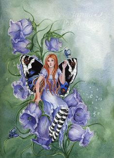 Bluebell by JannaFairyArt on DeviantArt Fairy Myth Mythical Mystical Legend Elf Faerie Fae Wings Fantasy Elves Faries Sprite Nymph Pixie Faeries Hadas Enchantment Forest Whimsical Whimsy Mischievous