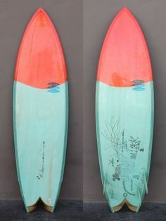 Mollusk surf shop in Venice Beach is hawking this beautiful Danny Hess Singer (used), made even trendier with rad doodles by artist and filmmaker Thomas Campbell. Surfboard Painting, Surfboard Shapes, Surfboard Art, Skateboard Art, Wooden Surfboard, Surf Design, Deco Surf, Surf Live, Venice Shopping