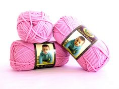 Babys First Lion Brand Yarn Pink Rose Fairy by TalicakeCrochet