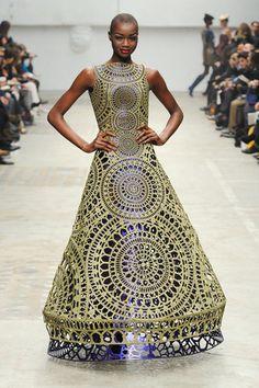 Laser cutout (?) dress