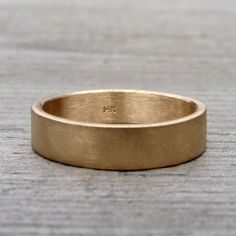 Recycled 14k Yellow Gold Wedding Band Made to by mcfarlanddesigns, etsy.com