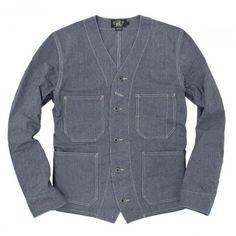 RRL Railroad jacket clipped pocket as with 3 x shirt mock ups...