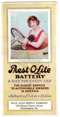 ADVERTISING-BLOTTER-PREST-O-LITE-BATTERY-WOMAN-DRIVING-034-TRUE-FRIENDS-034