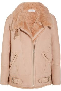 Pale-pink shearling Asymmetric zip fastening through front 100% shearling (Sheep) Dry clean Imported
