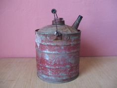 Vintage Mid 1900s One Gallon Red Metal by MattsAntiquesGalore, $19.00