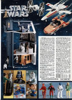 Vintage Star Wars Toys Catalog Page