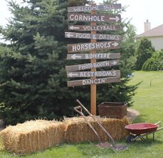 Throwing a party, country style! All kinds of activities!