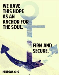 Hope as an anchor for the soul