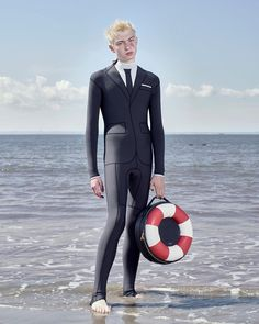 "Thom Browne (@thombrowneny) on Instagram: ""... lifesaver ... #thombrowne #tbss17 spring 2017 trompe l'oeil technical wetsuit, shop now on…"""