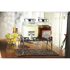StyleSetter Williamsburg 2-gallon Glass Beverage Dispenser Set