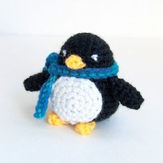 Little Amigurumi Penguin - $2.00 by Karla Fitch of The Itsy Bitsy Spider Crochet / Penguins - Animal Crochet Pattern Round Up - Rebeckah's Treasures