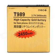 T989-GD 3.7V 2540mAh Li-ion Battery for Samsung  i515 / i717 / E120 / i547 / T989 + More - Golden