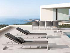 Espreguiçadeira de jardim reclinável de tecido Coleção Liner by MANUTTI   design Bram Bollen