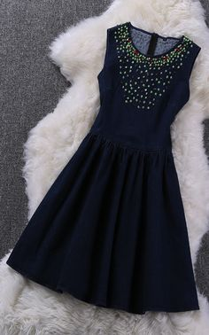 Beaded sequined sleeveless dress